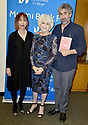 """MIAMI, FL - FEBRUARY 06: Radio host/author Diane Rehm (C), Mitchell Kaplan (R) and Dr. Cristina Pozo-Kaderman (L) during Diane Rehm signing of her new book """"When My Time Comes"""" Presented in collaboration with Miami Book Fair and Books and Books at Miami Dade College-Wolfson Auditorium on February 6, 2020 in Miami, Florida.   ( Photo by Johnny Louis / jlnphotography.com )"""