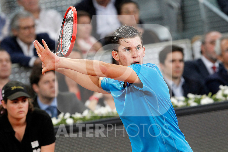 Dominic Thiem during Madrid Open Tennis 2014 match.May, 6, 2014.(ALTERPHOTOS/Acero)