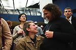 Europäischer Kabbala Kongress, Berlin Kino KOSMOS 28-30.01.2011. Kongressteilnehmer während der Yeshivat Haverim, der Freundesversammlung.