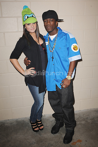 SUNRISE, FL - DECEMBER 12 : Iyaz and JoJo pose backstage at the Y-100 Jingle ball held at the Bank Atlantic center on December 12, 2009 in Fort Lauderdale Florida. Credit: mpi04/MediaPunch