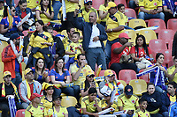 BOGOTA - COLOMBIA, 03-06-2019: Hinchas de Colombia y Panamá esperan por el partido amistoso entre Colombia y Panamá jugado en el estadio El Campín en Bogotá, Colombia. / Fans of Colombia and Panama await for a friendly match between Colombia and Panama played at Estadio El Campin in Bogota, Colombia.. Photo: VizzorImage/ Gabriel Aponte / Staff