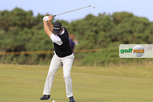 Retief Goosen (RSA) in action on the 14th hole during Sunday's Round 3 of the 144th Open Championship, St Andrews Old Course, St Andrews, Fife, Scotland. 19/07/2015.<br /> Picture Eoin Clarke, www.golffile.ie