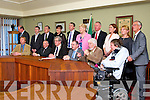 The Last sitting of Tralee Town Council on Monday 19th May 2014. Pictured Front  l-r Gerry Riordan,  Michael Scannell, Mayor of Tralee Pat Hussey, Michael McMahon, Johnny Wall, Terry O'Brien Back l-r  John Griffin, , Cathal Foley, Ted Fitzgerald, Norma Foley, Pa Daly, Mairead Fernane,  Dan Galvin,  Grace O'Donnell,  Gillian Wharton Slattery, Sam Locke