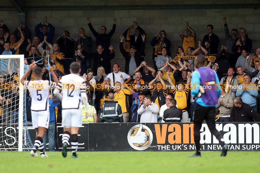 Maidstone United fans celebrate at the final whistle during Torquay United vs Maidstone United , Vanarama National League Football at Plainmoor on 24th September 2016