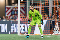 FOXBOROUGH, MA - AUGUST 31: Quentin Westberg #16 of Toronto FC during a game between Toronto FC and New England Revolution at Gillette Stadium on August 31, 2019 in Foxborough, Massachusetts.