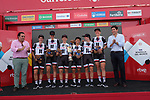 Team Sunweb win Stage 1 of the Madrid Challenge by La Vuelta, a team time trial running 12.6km from Boadilla del Monte to Boadilla del Monte, Spain. 15th September 2018.                   <br /> Picture: Unipublic/Vicent Bosch | Cyclefile<br /> <br /> <br /> All photos usage must carry mandatory copyright credit (&copy; Cyclefile | Unipublic/Vicent Bosch)