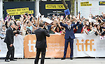 Benedict Cumberbatch & fans attending the Red Carpet Arrivals for 'The Imitation Game' at the Princess of Whales Theatre during the 2014 Toronto International Film Festival on September 9, 2014 in Toronto, Canada.