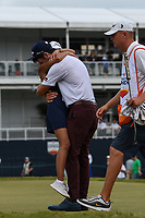 Lanto Griffin (USA) welcomes a big hug from his girlfriend Maya Brown after winning the 2019 Houston Open, Golf Club of Houston, Houston, Texas, USA. 10/13/2019.<br /> Picture Ken Murray / Golffile.ie<br /> <br /> All photo usage must carry mandatory copyright credit (© Golffile | Ken Murray)