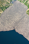Pictured: Aerial photos show thousands of trees decimated in the eruption of Mount St Helens 40 years ago still floating in a lake at the volcano's base.   Its eruption on May 18, 1980, was the the deadliest volcanic event in US history, killing 57 people and destroying 250 homes, 47 bridges and 185 miles of roads.<br /> <br /> Debris, including a dense forest on the mountain side, also engulfed the 4,000 year old Spirit Lake, totally covering it and killing millions of salmon there.   Four decades on, the water is still full of tonnes of wood from that forest.   SEE OUR COPY FOR DETAILS<br /> <br /> Please byline: Jassen Todorov/Solent News<br /> <br /> © Jassen Todorov/Solent News & Photo Agency<br /> UK +44 (0) 2380 458800
