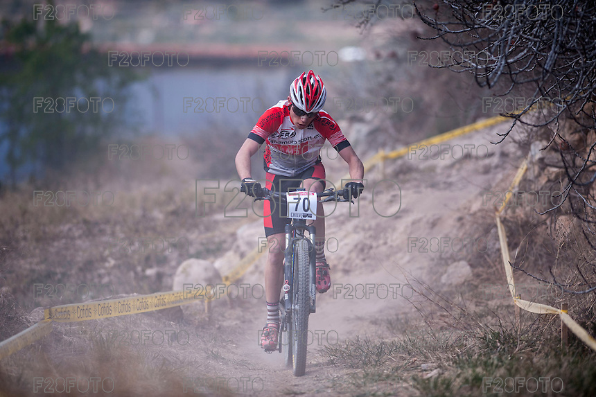 Chelva, SPAIN - MARCH 6: David Zafra during Spanish Open BTT XCO on March 6, 2016 in Chelva, Spain
