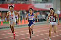 (L to R) Syota Iizuka (JPN), Masashi Eriguchi (JPN), Takumi Kuki (JPN),.JUNE 9, 2012 - Athletics : The 96th Japan Athletics National Championships Osaka 2012, Men's 100m final at Nagai Stadium, Osaka, Japan. (Photo by Jun Tsukida/AFLO SPORT) [0003]