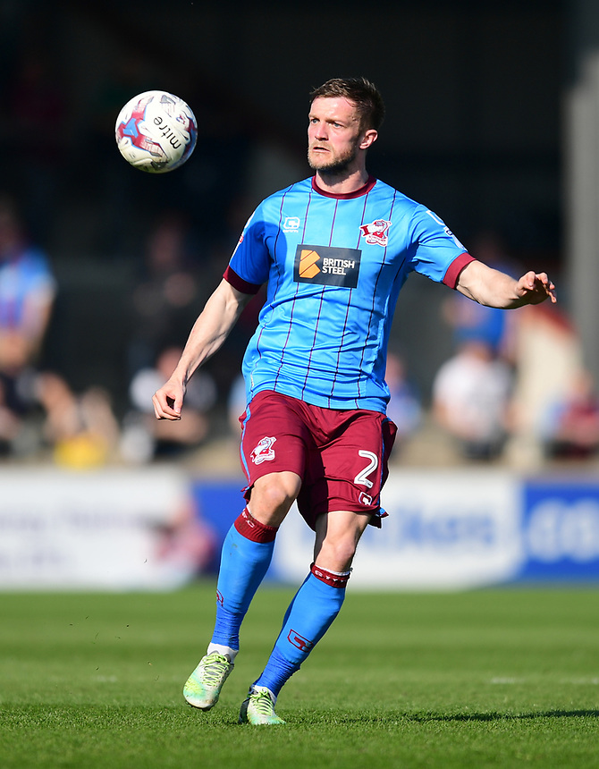 Scunthorpe United's Scott Wiseman<br /> <br /> Photographer Chris Vaughan/CameraSport<br /> <br /> The EFL Sky Bet League One - Scunthorpe United v Bolton Wanderers - Saturday 8th April 2017 - Glanford Park - Scunthorpe<br /> <br /> World Copyright &copy; 2017 CameraSport. All rights reserved. 43 Linden Ave. Countesthorpe. Leicester. England. LE8 5PG - Tel: +44 (0) 116 277 4147 - admin@camerasport.com - www.camerasport.com