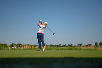 Jacqui Concolino (USA) watches her tee shot on 9 during round 1 of  the Volunteers of America LPGA Texas Classic, at the Old American Golf Club in The Colony, Texas, USA. 5/5/2018.<br /> Picture: Golffile | Ken Murray<br /> <br /> <br /> All photo usage must carry mandatory copyright credit (&copy; Golffile | Ken Murray)