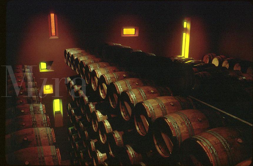 Fermentation room,Sterling vineyards. California, Napa Valley.