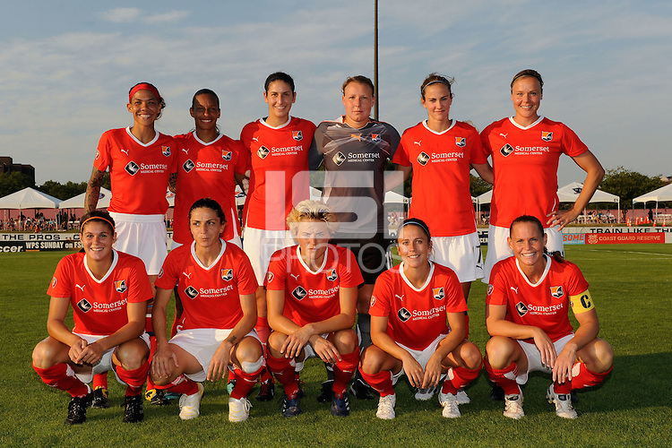 Sky Blue FC starting eleven. The Atlanta Beat defeated Sky Blue FC 1-0 during a Women's Professional Soccer (WPS) match at Yurcak Field in Piscataway, NJ, on July 18, 2010.