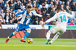 Real Madrid Carlos Henrique Casemiro and R.C. Deportivo Lucas Perez during La Liga match between Real Madrid and R. C. Deportivo at Santiago Bernabeu Stadium in Madrid, Spain. January 18, 2018. (ALTERPHOTOS/Borja B.Hojas)