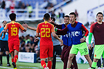 Yu Dabao of China celebrates scoring his team's second goal with the teammates during the AFC Asian Cup UAE 2019 Group C match between China (CHN) and Kyrgyz Republic (KGZ) at Khalifa Bin Zayed Stadium on 07 January 2019 in Al Ain, United Arab Emirates. Photo by Marcio Rodrigo Machado / Power Sport Images