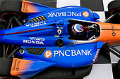 Scott Dixon, Chip Ganassi Racing Honda in Victory Lane