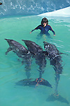 Jan Rymer With Rough-toothed Dolphins