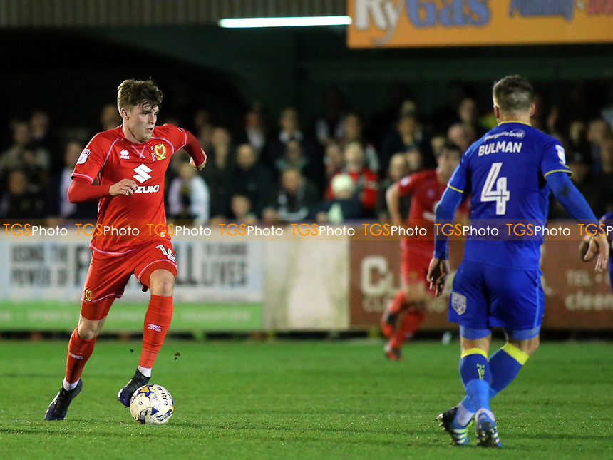Robbie Muirhead of MK Dons in action during AFC Wimbledon vs MK Dons, Sky Bet EFL League 1 Football at the Cherry Red Records Stadium on 14th March 2017