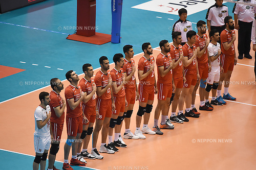 Iran team group (IRI), <br /> JUNE 2, 2016 - Volleyball :<br /> Men's Volleyball World Final Qualification for the Rio de Janeiro Olympics 2016<br /> match between Iran 3-2 China<br /> at Tokyo Metropolitan Gymnasium, Tokyo, Japan.<br /> (Photo by AFLO SPORT)