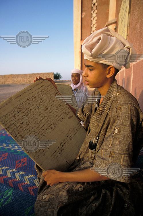 Boys learning the Koran at an Islamic school.