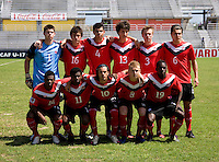 Canada lines up during the group stage of the CONCACAF Men's Under 17 Championship at Catherine Hall Stadium in Montego Bay, Jamaica. Canada tied Honduras, 0-0.