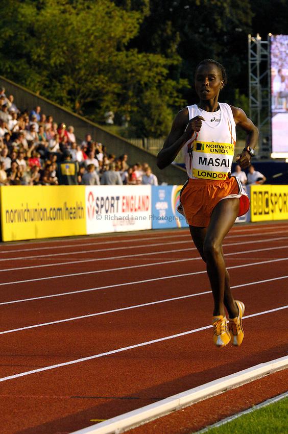 Photo: Richard Lane..Norwich Union London Grand Prix Athletics at Crystal Palace. 30/07/2004..Edith Masai in the womens 5000m.
