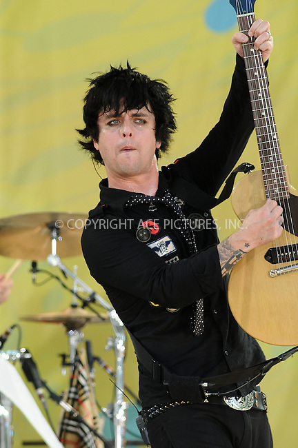 "WWW.ACEPIXS.COM . . . . . ....May 22 2009, New York City....Rock band  Green Day performs live on ABC's ""Good Morning America"" at Rumsey Playfield, Central Park on May 22, 2009 in New York City.....Please byline: AJ SOKALNER - ACEPIXS.COM.. . . . . . ..Ace Pictures, Inc:  ..tel: (212) 243 8787 or (646) 769 0430..e-mail: info@acepixs.com..web: http://www.acepixs.com"