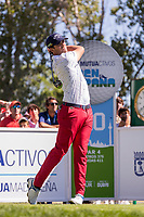 Nacho Elvira (ESP) on the 10th tee during the third round of the Mutuactivos Open de Espana, Club de Campo Villa de Madrid, Madrid, Madrid, Spain. 05/10/2019.<br /> Picture Hugo Alcalde / Golffile.ie<br /> <br /> All photo usage must carry mandatory copyright credit (© Golffile | Hugo Alcalde)