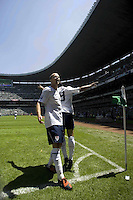 Action photo of Charlie Davies and Michael Bradley of the USA, during World  Cup 2010 qualifier game against USA at the Azteca Stadium./Foto de accion de Charlie Davies de USA, durante juego eliminatorio de Copa del Mundo 2010 en el Estadio Azteca. 12 August 2009.