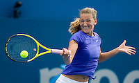 Victoria Azarenka (BLR) against Dominka Cibulkova (SVK) in the Quarterfinals of the Womens Singles. Azarenka beat Cibulkova 2-6 6-2 7-5..International Tennis - Medibank International Sydney - Wed 13 Jan 2010 - Sydney Olympic Park  Tennis Centre- Sydney - Australia ..© Frey - AMN Images, 1st Floor, Barry House, 20-22 Worple Road, London, SW19 4DH.Tel - +44 20 8947 0100.mfrey@advantagemedianet.com