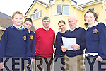 FUNDING: Some of the young people of Rathmore who will benefit from funding for the Teach Iosaga?in centre run by the local Social Action Group, including l-r: Michael Murphy, Darragh Murphy, Donal Kelliher (SAG), Siobha?n Ardener, Jeremiah O'Donoghue (SAG), Denise Crowley.