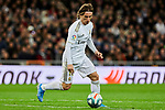 Luka Modric of Real Madrid during La Liga match between Real Madrid and Athletic Club de Bilbao at Santiago Bernabeu Stadium in Madrid, Spain. December 22, 2019. (ALTERPHOTOS/A. Perez Meca)