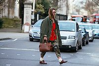 Street Style at London Fashion Week (Photo by Hunter Abrams/Guest of a Guest)
