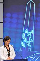 OSASCO, SP, 03 SETEMBRO DE 2012 – DEBATE REDETV – ATENÇÃO EDITOR: FOTO EMBARGADA PARA VEÍCULOS INTERNACIONAIS: Candidatos a prefeitura de São Paulo Soninha durante debate realizado na noite desta segunda feira (03) pela RedeTV, na sede da emissora em Osasco. (FOTO: LEVI BIANCO / BRAZIL PHOTO PRESS).