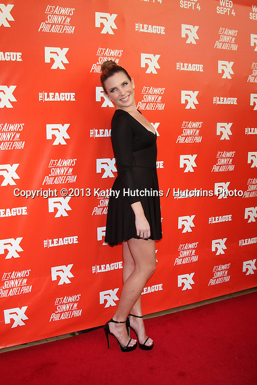"""LOS ANGELES - SEP 3:  June Diane Raphael at the FXX Network Launch Party And Premieres For """"It's Always Sunny In Philadelphia"""" And """"The League"""" at the Lure on September 3, 2013 in Los Angeles, CA"""