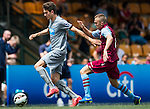 Newcastle United vs Aston Villa during their Main Cup Quarter-Final match as part of day three of the HKFC Citibank Soccer Sevens 2015 on May 31, 2015 at the Hong Kong Football Club in Hong Kong, China. Photo by Xaume Olleros / Power Sport Images