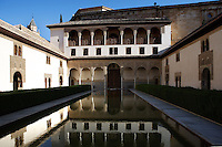 South Gallery; Courtyard of the Myrtles; XIV century under the reign of Yusuf I; Comares Palace; Nasrid Palaces; The Alhambra, Granada, Andalusia, Spain Picture by Manuel Cohen