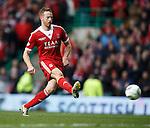 Adam Rooney scores the winning penalty kick for Aberdeen