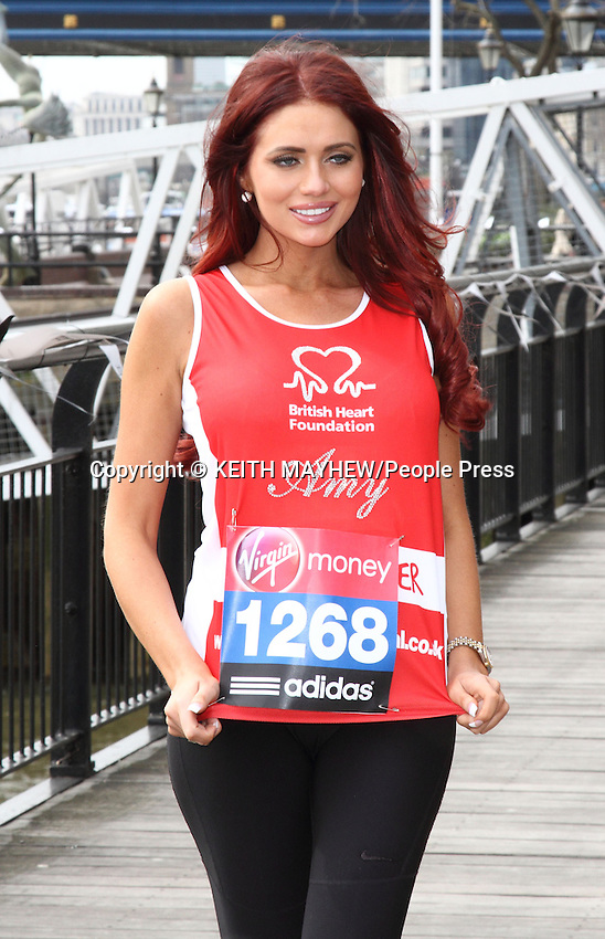 London - London Marathon 2013 Celebrities Photocall outside the Tower Hotel, London - April 17th 2013..Photo by Keith Mayhew.