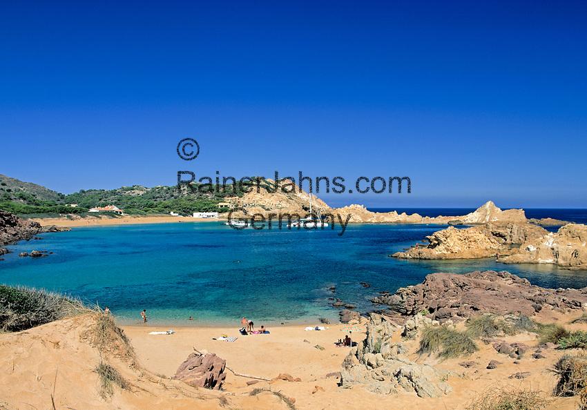 ESP, Spanien, Balearen, Menorca, Cala Pregonda: stille Bucht im Norden | ESP, Spain, Balearic Islands, Menorca, Cala Pregonda: quiet bay in the north
