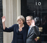 Prime Minister Theresa May and Husband Philip outside 10 Downing Street in London, England. 13th July 2016.<br /> CAP/JWP<br /> &copy;JWP/Capital Pictures /MediaPunch ***NORTH AND SOUTH AMERICAS ONLY***