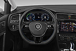 Car pictures of steering wheel view of a 2019 Volkswagen e-Golf SEL Premium 5 Door Hatchback