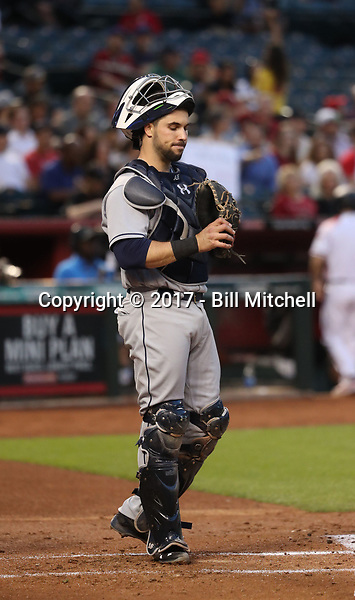 Austin Hedges - 2017 San Diego Padres (Bill Mitchell)
