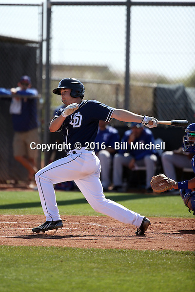 Auston Bousfield - San Diego Padres 2016 spring training (Bill Mitchell)