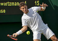 London, England, 27 june, 2016, Tennis, Wimbledon, Diego Schwartzman (ARG)<br /> Photo: Henk Koster/tennisimages.com