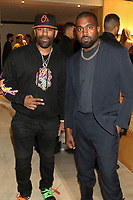 "NEW YORK, NY - NOVEMBER 6, 2019 DJ Clue & Kanye West attend the Kanye West ""Follow God"" music video presentation at the Burberry Store, November 6, 2019 in New York City. <br /> CAP/MPIWG<br /> ©WG/MPI/Capital Pictures"