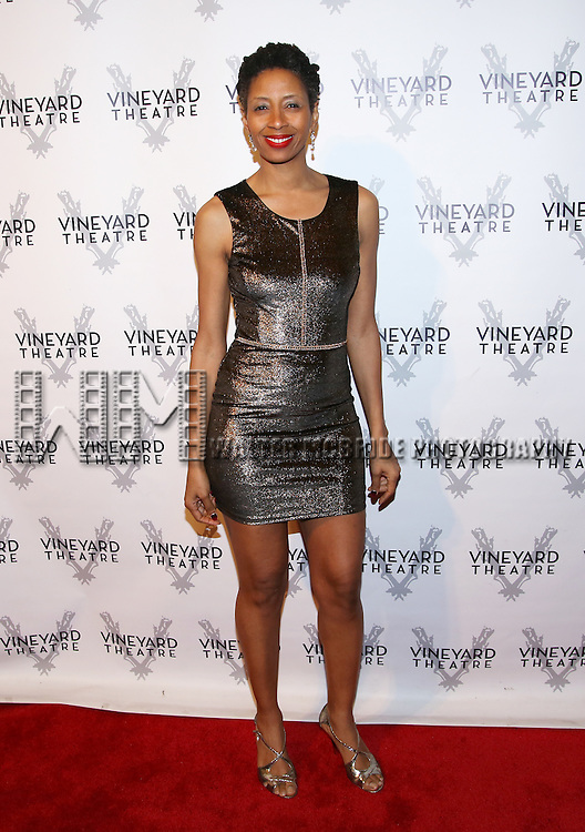 Libya Pugh attends the cocktail party for the Vineyard Theatre 2016 Gala at the Edison Ballroom on March 14, 2016 in New York City.