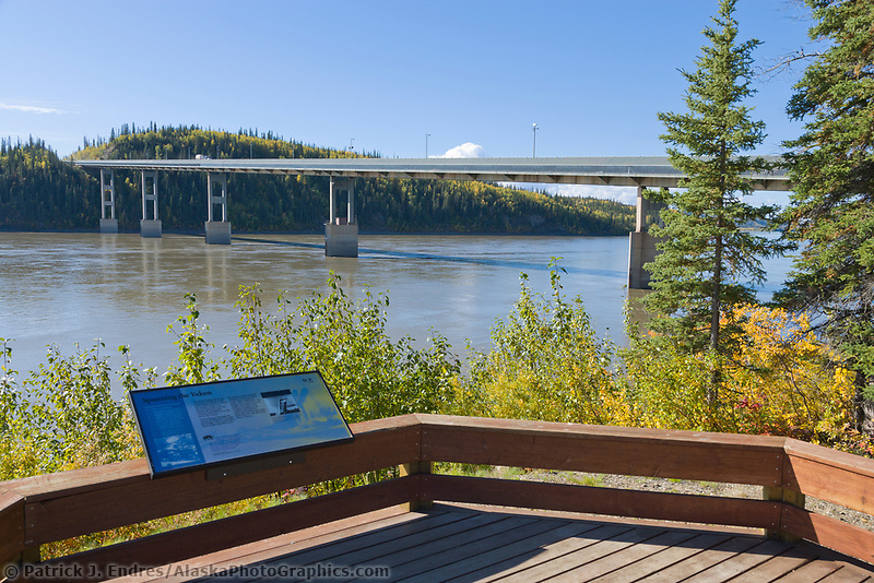 Trans Alaska Oil Pipeline crosses the Yukon River via the Dalton Highway, Interior, Alaska.